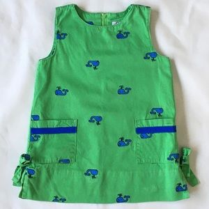 Lilly Pulitzer dress size 3T whales green shift